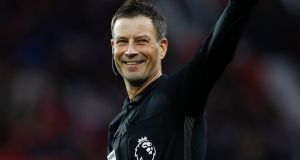 Mark Clattenburg: has reason to smile about a £500,000-a-year tax free role as head of referees in Riyadh, Saudi Arabia. Photograph: Carl Recine/Livepic