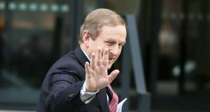 Enda Kenny: Has escaped from a couple of near political-death experiences in the past . Photograph: Gareth Chaney Collins