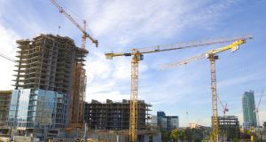The Society of Chartered Surveyors Ireland (SCSI) predicts construction costs will rise by 3 per cent in the first half of 2017. Photograph: iStock