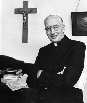 A photograph, dated 1988, of Monsignor Desmond Connell amid speculation he was to be appointed Archbishop of Dublin. Photograph: Jack mcManus/The Irish Times