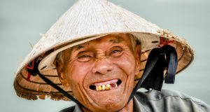 Fisherman at Hoi An, Vietnam - one of the photographs by Gerry Andrews from his exhibition, Faces and Places: A Photographer's Journey, which will open in the Hunt Museum in Limerick on Friday, February 24th.