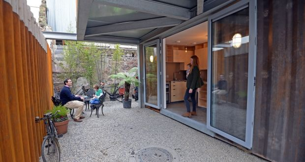 Seven shipping containers become a family home
