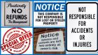 Legal or illegal? Signs in shops  and the law