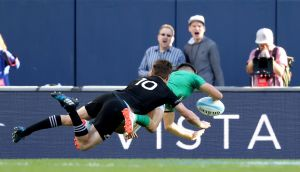 Conor Murray's ability to dart through the smallest gap is not what France are expecting from Murray or Ireland at this moment. Photograph: Inpho