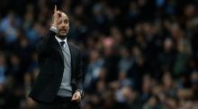 Manchester City manager Pep Guardiola says his team need to score in France if they want to progress. Photograph: Reuters