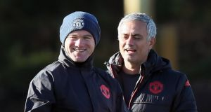 Jose Mourinho cannot guarantee that Wayne Rooney will end the season at Manchester United, amid reports the forward is ready to head to the Chinese Super League. Photograph: Martin Rickett/PA