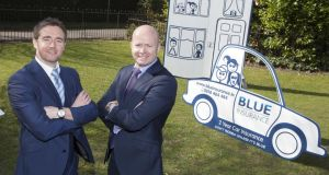Blue Insurance managing director Ciaran Mulligan (right) and Ian Kennedy, marketing manager with the company. Photograph: Paul Sherwood