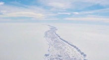 Iceberg the size of Mayo set to break off Larsen C ice shelf