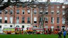 The scene at Mountjoy Square in Dublin on Tuesday. Photograph: Cyril Byrne/The Irish Times