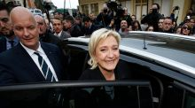 Marine Le Pen has promised to take France out of the euro. Photograph: Epa/Sebastien Nogier