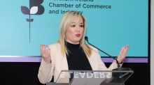"Michelle O'Neill at the ""5 Leaders, 5 Days"" Northern Ireland Chamber of Commerce event in Magherafelt on Wednesday"