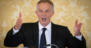 "Former British prime minister Tony Blair hit out at the Daily Mail's ""utter hypocrisy"", pointing out that the newspaper led a media campaign for Jamal al-Harith's release from Guantanamo Bay. Photograph: Stefan Rousseau/AFP/Getty Images"