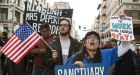 Demonstrators took part in a 'Free The People Immigration March' in Los Angeles on Saturday. Photograph: Dania Maxwell/Bloomberg