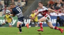Ireland outhalves Ian Madigan and Paddy Jackson went head  head to head when Bordeaux-Begles' hosted Ulster in the Champions Cup pool stages. Photograph: Nicolas Tucat/AFP/Getty Images