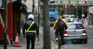 Under proposed legislation, motorists in Ireland would be obliged by law to pass cyclists no closer than 1.5m on roads with a speed limit of 50km/h or higher.  Photograph: Kate Geraghty