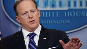 "White House press secretary Sean Spicer: ""The law is the law."" Photograph: Jonathan Ernst/Reuters"