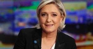 "French presidential election candidate for the Front National  party Marine Le Pen has alleged ""political dirty tricks"".  Photograph: Patrick Kovarik/AFP/Getty Images"