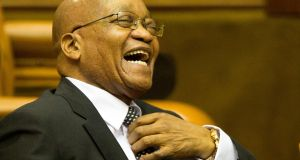 "Jacob Zuma: South Africa's president has said  the ANC will ""rule until Jesus comes"". Photograph: Nic Bothma/ EPA"