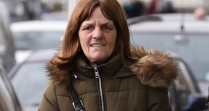 Christina Mulhall (58) of Lower Sean McDermott Street, Dublin pictured on Wednesday  after appearing before the Dublin District Court. Photograph: Collins