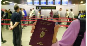 Pre-clearance arrangement means passengers travelling to  US through Dublin and Shannon can pass all US entry controls - immigration, customs and agriculture - so that when they arrive at US airports they are treated as domestic passengers. Photograph: The Irish Times