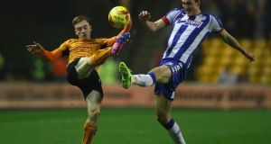Wolves youngster Connor Ronan in action against Wigan Athletic earlier this month. Photograph: Michael Steele/Getty Images