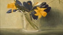 Spring Flowers (oil-on-copper panel) by Stuart Morle (€1,000-€1,500)