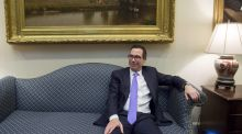 Treasury secretary Steven Mnuchin waits for a meeting with US president Donald Trump this week. Photograph: AFP