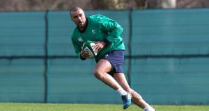 Ireland and Munster winger Simon Zebo has said he would like to play in France before his career is over. Photograph: Billy Stickland/Inpho