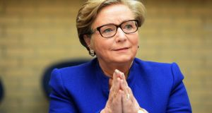 Minister for Justice and Equality Frances Fitzgerald: the best way out of poverty is having a job. Photograph: Eric Luke