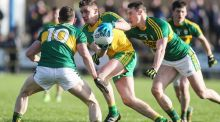 Donegal's Ciarán Thompson in action against Kerry in the Allianz League Division One match at O'Donnell Park, Letterkenny. Thompson  has caught the eye in the opening rounds. Photograph: Inpho