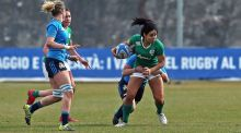 Ireland's Sene Naoupu will be unavailable for Ireland women when they take on France due to Sevens commitments. Photograph: Giuseppe Fama/Inpho