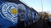 A mural of Claudio Ranieri in Leicester city centre. Photograph: Chris Radburn/PA