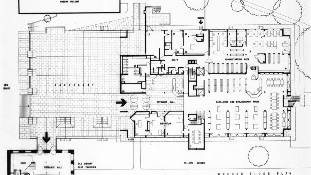 The ground-floor plan of Berkeley Library