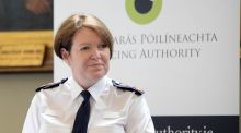 Garda Commissioner Noirin O'Sullivan at the meeting between the Policing Authority and the Garda Commissioner in Dublin. Photograph: Eric Luke