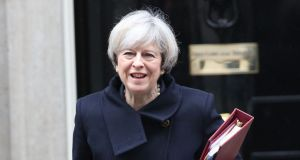 "Theresa May: The British prime minister is under pressure to ""deliver"" a clean break with the EU. Photograph: Philip Toscano/PA"