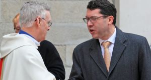 Senator Ronán Mullen at the Pro-Cathedral  for the funeral Mass of Cardinal Desmond Connell. Photograph: Collins