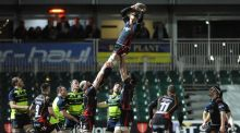 Dragons' Lewis Evans claims a line-out during his side's Pro12 win over Leinster. Photo: Ian Cook/Inpho