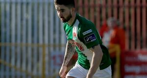 Cork City's Sean Maguire scored the onoly goal of the game as they beat Finn Harps in Donegal. Photo: Donall Farmer/Inpho