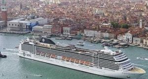 The cruise ship MSC Magnifica on which Dublin-based German Daniel Belling, who is accused of killing his wife, was travelling. Photograph: MSC Cruises
