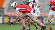 Cuala's Darragh O'Connell picks up the ball during his team's semi-final win on Saturday. Photograph: Matt Mackey/Inpho