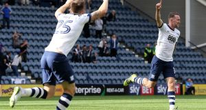 Aiden McGeady netted again for Preston as they moved up to 8th with a win over QPR. Photo: Getty Images