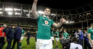 Ireland's Conor Murray celebrates beating France in the Six Nations. Photo: Dan Sheridan/Inpho