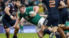Tadhg Furlong put in another mammoth shift as Ireland ground it out against France in Dublin. Photograph: Dan Sheridan/Inpho