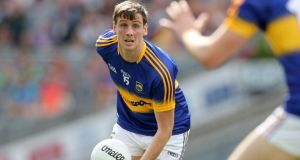 Conor Sweeney scored seven points in Tipperary's win over Laois at O'Moore Park. Photograph: Ryan Byrne/Inpho