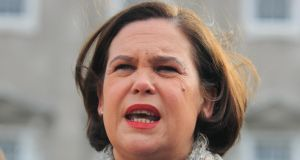 Sinn Féin deputy leader Mary Lou McDonald: likely to take over as leader in South with Gerry Adams retaining an influential presidential role linking the operation on both parts of the island.  Photograph: Gareth Chaney Collins