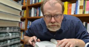 George Saunders: the characters in his novel reside  in the graveyard where Abraham Lincoln's son Willie is buried