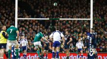 Ireland's Jonathan Sexton kicks a penalty in Saturday's victory over France at the Aviva Stadium. Photograph: Colm O'Neill/Inpho