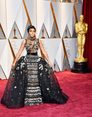 Janelle Monae in Elie Saab. Photograph: Frazer Harrison/Getty Images