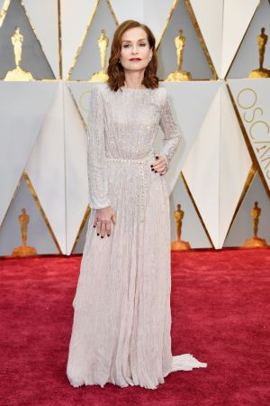 Isabella Huppert in Armani Prive. Photograph: Frazer Harrison/Getty Images