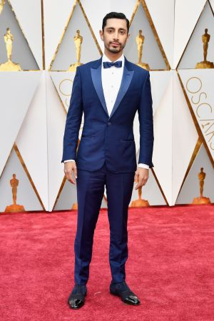 Riz Ahmed in Zegna. Photograph: Frazer Harrison/Getty Images